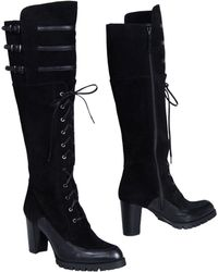 Stuart Weitzman - Lace-Up Suede Knee-High Boots - Lyst