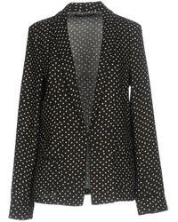 Maison Scotch - Women's Basic Printed Drapey Blazer With Contrast Piping - Lyst