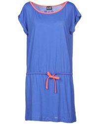 EA7 - Short Dress - Lyst