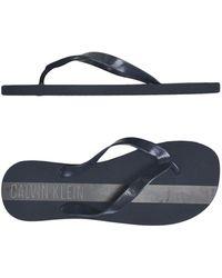 Calvin Klein - Toe Strap Sandals - Lyst