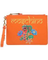 Moschino - Indian Snake Pochette Orange - Lyst