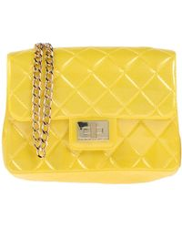 Leather Designinverso Quilted Milano Bag In Lyst Shoulder Yellow naHUqwax