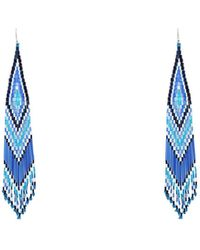 Jessie Western Earrings - Blue