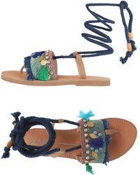 Lola Cruz - Toe Post Sandal - Lyst