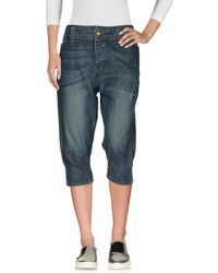 Lee Jeans - Denim Capris - Lyst