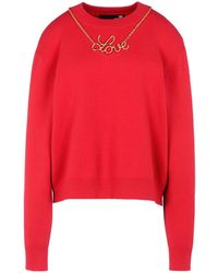 Love Moschino | Long Sleeve Sweater | Lyst