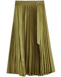 TOPSHOP 3/4 Length Skirt - Green