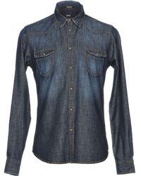Officina 36 - Denim Shirt - Lyst