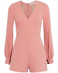 Alexis - Kourtney Crepe Playsuit - Lyst