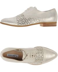 Donna Più - Lace-Up Metallic-Leather Shoes - Lyst
