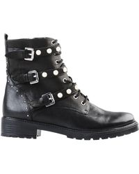Dune - Risky Leather Biker Boots - Lyst