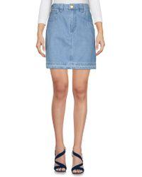 Topshop Unique - Denim Skirt - Lyst