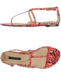 Rachel Zoe - Printed Leather Sandals - Lyst