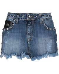 John Richmond - Denim Shorts - Lyst