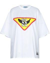 dfe2d63cb853c Damen Prada T-Shirts - Lyst