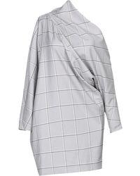 82bfd10478778 Robe-pull asymétrique en jersey de coton Burberry en coloris Gris - Lyst