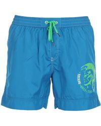 929c1aa256 DIESEL Swim Trunks in Blue for Men - Lyst