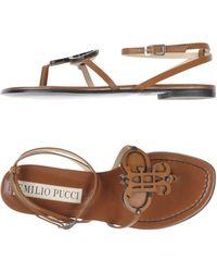 Emilio Pucci - Toe Strap Sandal - Lyst