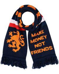 MAKE MONEY NOT FRIENDS - Oblong Scarves - Lyst