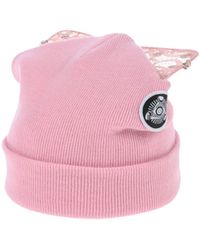 Bad Kitty embellished beanie with cat ears - Pink & Purple Silver Spoon Attire O9r88qb8
