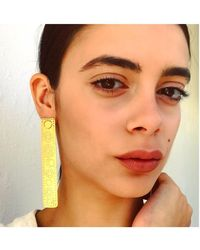 Joanna Cave - Milan Long Single Gold Earring - Lyst