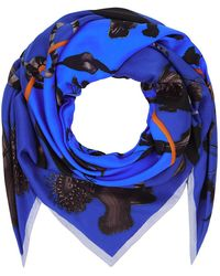 Klements | Square Scarf In Rainbow Trout Print (blue) | Lyst