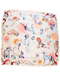 Klements - Good Boy Square Silk Scarf Featuring Ted - Last One - Lyst