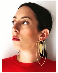 Joanna Cave - Anaire Earrings In Gold With White Sapphires - Lyst