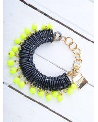 Longshaw Ward | Bracelet In Black/neon Yellow | Lyst