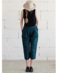 Lemuel MC - Soft Linen Crop Trousers - Lyst