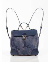 Jam Love London - Hillside Urban Backpack In Mid Blue Camouflage - Lyst