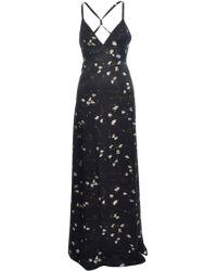 Rockins - Popcorn Long Black Slip Dress - Lyst
