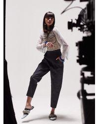 Longshaw Ward - Navy Denim Contrast Trousers - Lyst