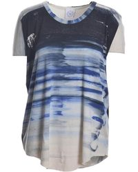 Draw In Light - Blue Ombre Short Sleeved Tee - Lyst