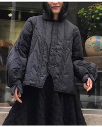 Renli Su - Quilted Curve Black Jacket - Lyst
