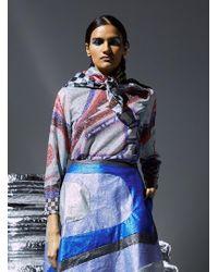 Sadie Williams - Printed Lurex Long Sleeve Top - Lyst