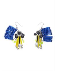Kirsty Ward - Embellished Blue Earrings - Lyst