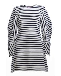 MINKI LONDON - White And Navy Striped Sweat Dress - Lyst
