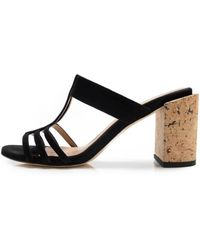 Dear Frances - High Tee Heel In Black/cork - Lyst