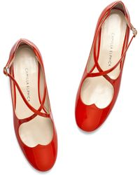 Camilla Elphick - Lover Flats In Red - Lyst