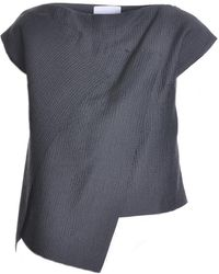 Charlie May - Charcoal Grey Origami Top - Sold Out - Lyst