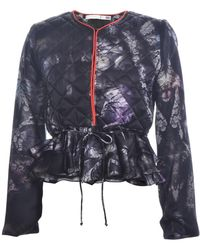 Klements - Victoria Silk Padded Jacket In Bruised Lace Print - Lyst