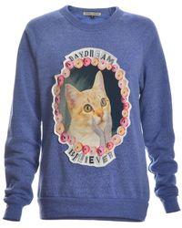 Simeon Farrar - 'daydream Believer' Cat Sweatshirt - Lyst
