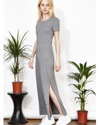 Uncivilised - Aphrodite Grey Maxi T-dress - Last One - Lyst