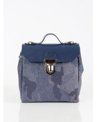 Jam Love London - Hillmini Urban Messenger In Mid Blue Camouflage - Lyst
