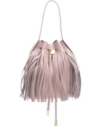 Gvyn - Yuri Rose Baby Bucket Bag With Fringe - Sold Out - Lyst
