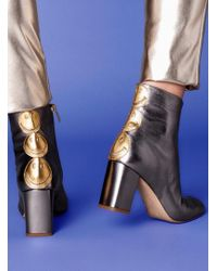 Camilla Elphick - Smile Time Boots In Gunmetal Leather - Lyst