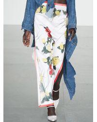 Faustine Steinmetz - Peeled Floral Silk Skirt - Last One - Lyst