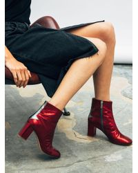 Camilla Elphick - Silver Lining Ankle Boots In Metallic Cerise - Lyst