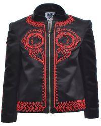 Clio Peppiatt - Selene Black Beaded Jacket - Lyst